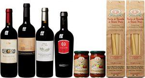Rotwein-Klassiker und handgemachte Pasta (4 x 0.75 l, 2 x 500 g, 2 x 270 g)