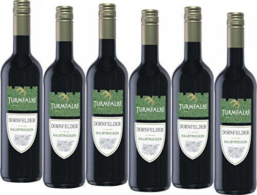 Turmfalke Dornfelder Qualitätswein halbtrocken  (6 x 0.75 l)